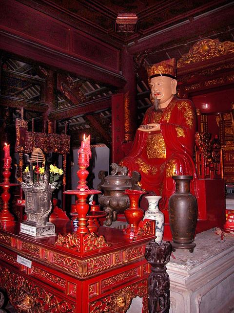 Inside Văn Miếu (Temple of Literature) in Hanoi