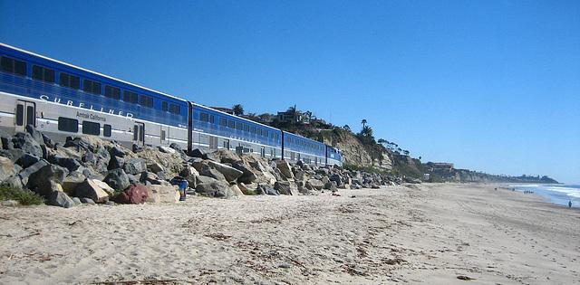 Amtrak On San Clemente Beach (9199)