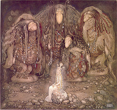 Les trolls et la princesse enlevée, œuvre de John Bauer