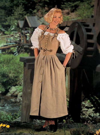 Landhausstil - Dirndl-style-dress (2)