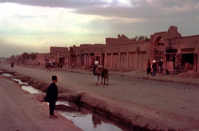 Scene during sunset in Herat