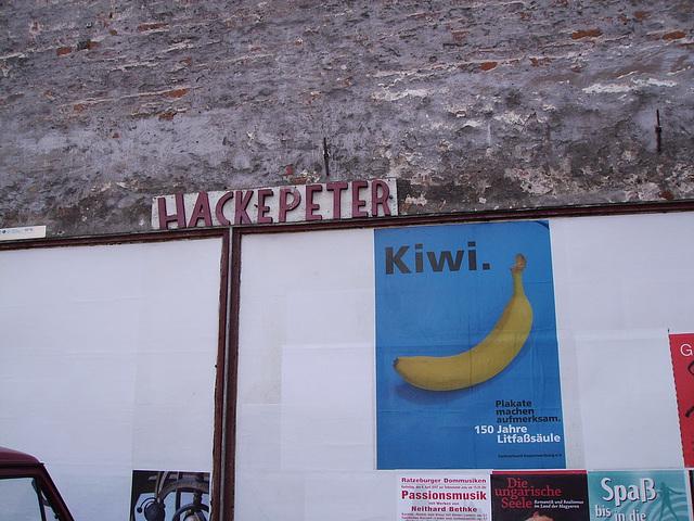 hackepeter mit kiwi