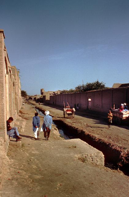 Along a channel in Herat