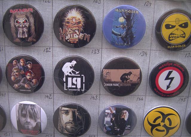 Ook hier Linkin Park in de etalage, Kraków Krakau