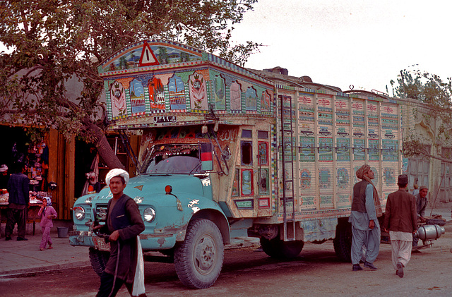 Typical Afghanian truck