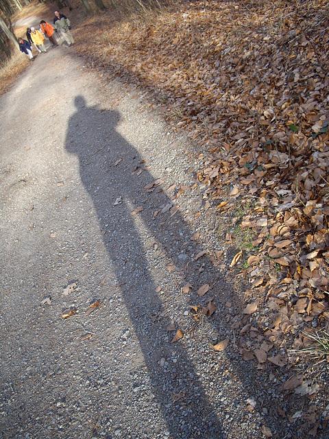 mein mittags-Winter-bergab-Schatten