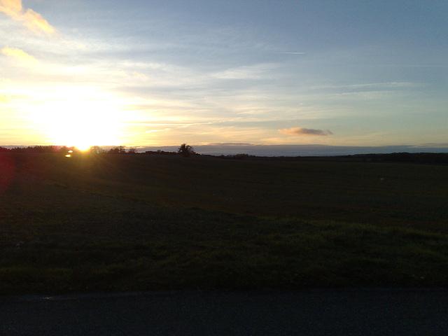 Coucher de soleil sur le Quercy Blanc