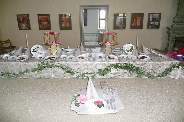 Porzellan mit Kamelienblüten