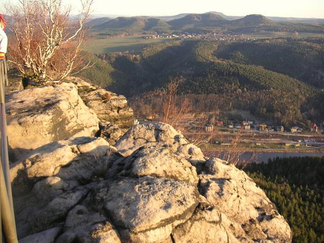 Blick auf Stadt Königstein