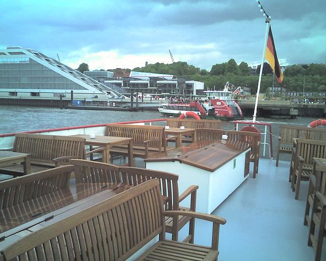 Auf dem Raddampfer FREYA beim Hamburger Hafengeburtstag / 070513 152035