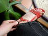 Christine !  Chaussures rouges à talons hauts dernier cri de Cricri !  In her new red wedding heels !  27 avril 2013.