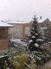 Nieva en Mutilva Alta.