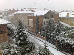 Nieva en Mutilva Alta (Navarra).