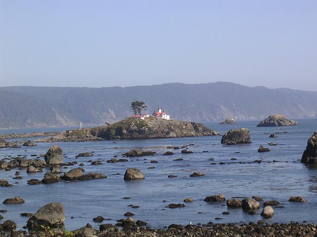 Lighthouse bei Ebbe