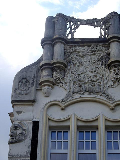Detail am Jugendstilhaus in Bendorf