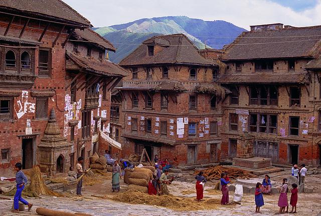 A yard in Bhaktapur