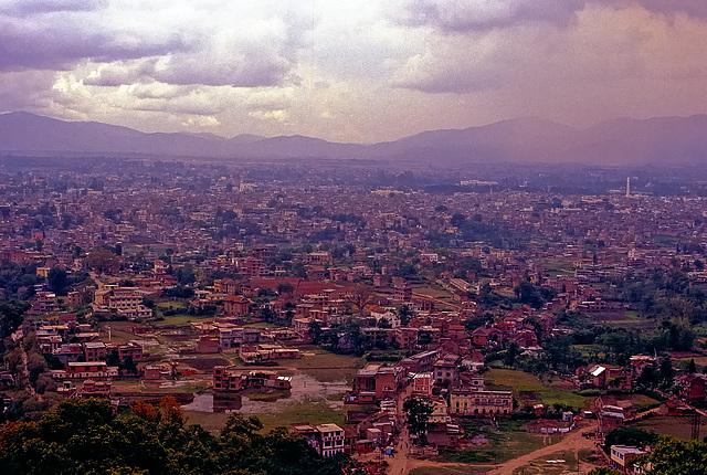 View over Kathmandu from Swayambhunath hill
