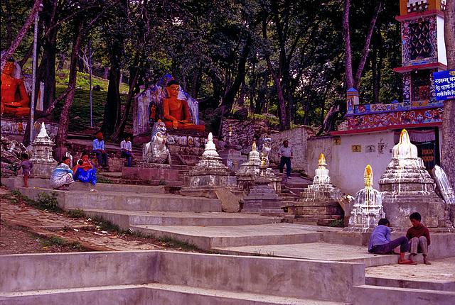 Steps to the Swayambhunath pagoda