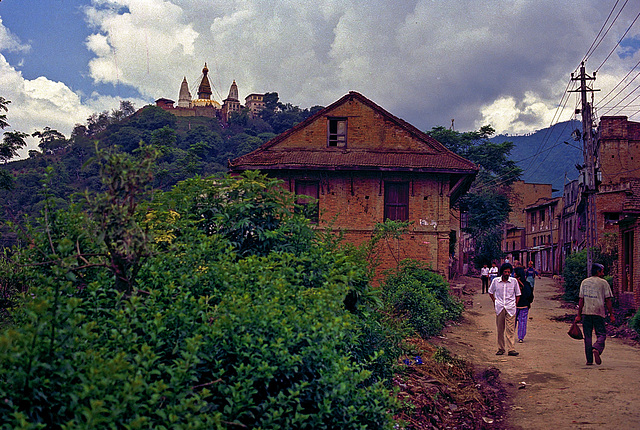 Way to Swayambhunath