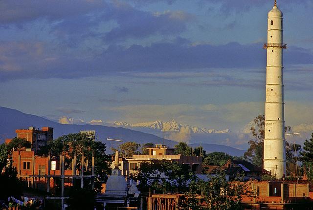 Kathmandu skyline with Bhimsen tower