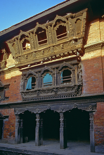 Wooden carved windows from Newari art