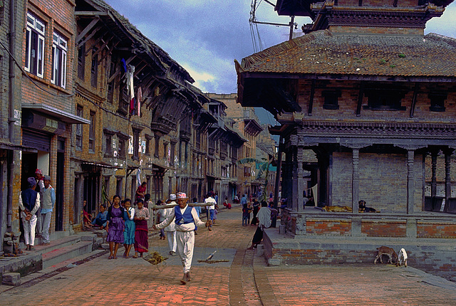 Downtown in Bhaktapur