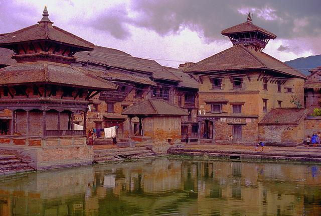 Siddhi Pokhari pond in Bhaktapur