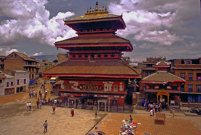 Bhairavnath temple at Dubar square in Bhaktapur