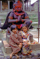 Small girls in Patan