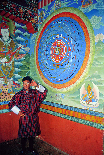 Mandala painting inside the Kurjey Lhakhang temple