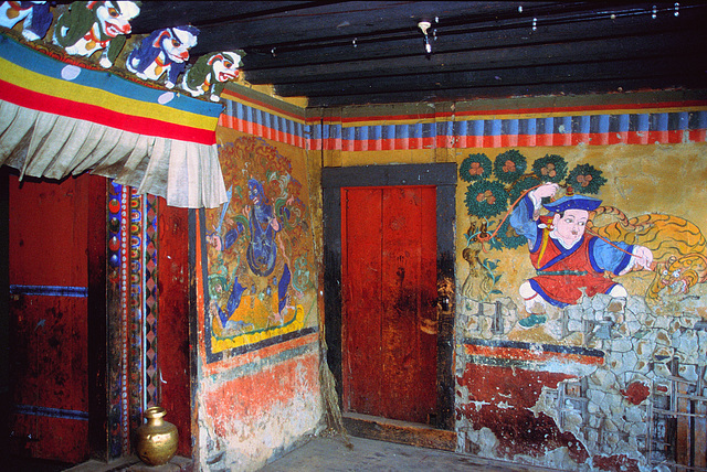 Entrance into the Konchogsum Lhakhang temple