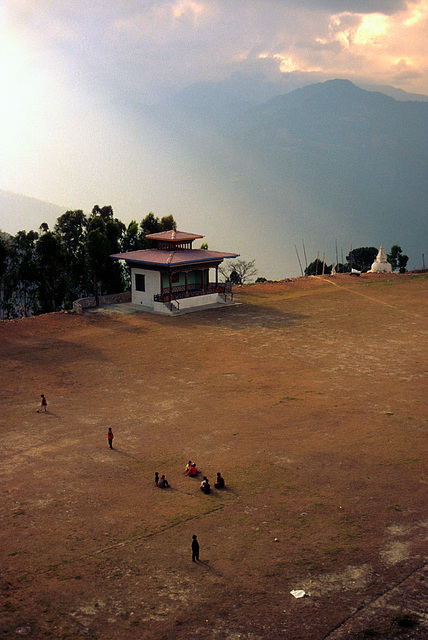 Soccer pitch in Mongar