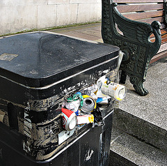 Stuffed with trash