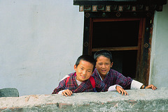 Curious Pupils in Tashigang