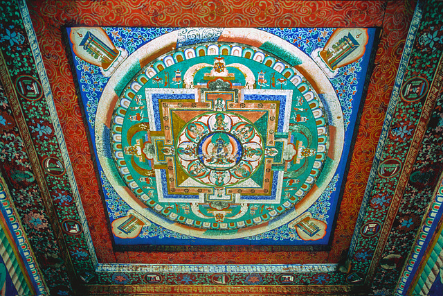 Painting inside the chorten
