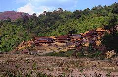 An hill tribes village near Xam Neua