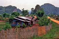 Xaiburi village near Viengxay