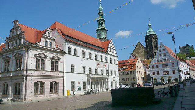 Blick auf Rathaus und oberen Marktplatz