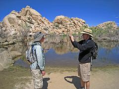 Ari & John at Barker Dam (0629)