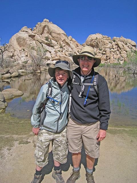 Ari & John at Barker Dam (0630)