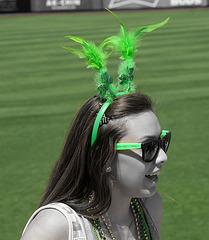 Baseball Fan On St. Patrick's Day (1113A)