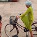 Kleine Muslimin in Chau Doc