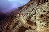 Narrow path at the ThaklamLa (pass) 3240 m