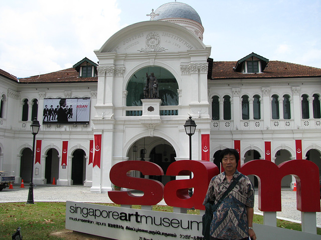 Antaux la Arta Muzeo de Singapuro=Song in front of the SingapureArtMuseum/싱가폴-싱아트뮤지엄앞에서_090819