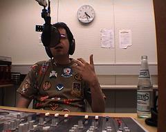 Stefan Beck im Studio von Radio X -- seminar09-07-04