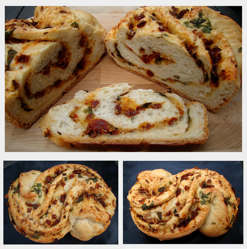 Tomato, Basil, & Garlic Filled Pane Bianco