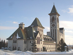 Abbaye St-Benoit-du-lac  /   St-Benoit-du-lac  Abbey -  Quebec, CANADA  -  February  6-7-8 février 2009 - Avec flash  /  With the flash option