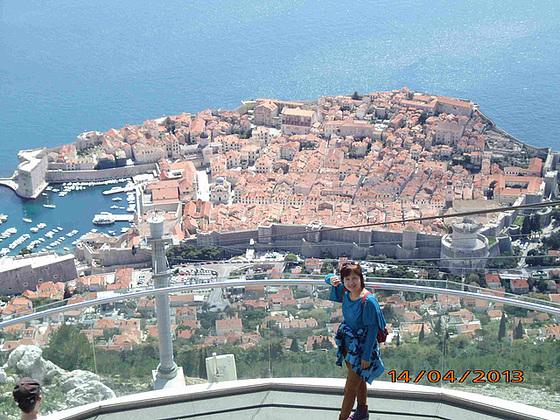 Bela vidajo al malnova urbo de Dubrovniko