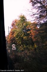 Railway Speed Signs, Somewhere Near Cercany, Bohemia(CZ), 2007