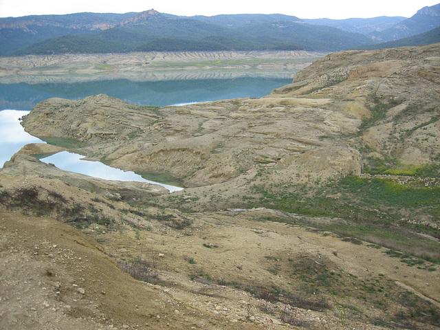 Dig-lago Canelles en Àger aprilo-2007